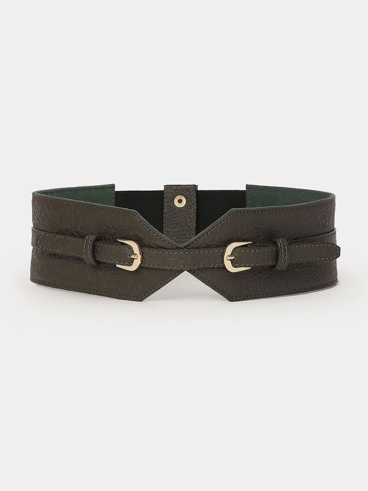 Grey Embossed Belt