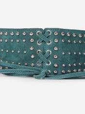 Teal Green Rivet Corset Belt