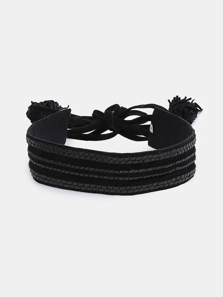 Black Tie-up Belt