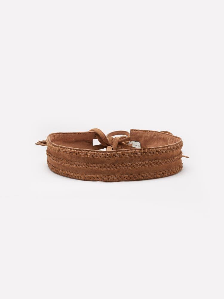 Tan Tie-Up Belt