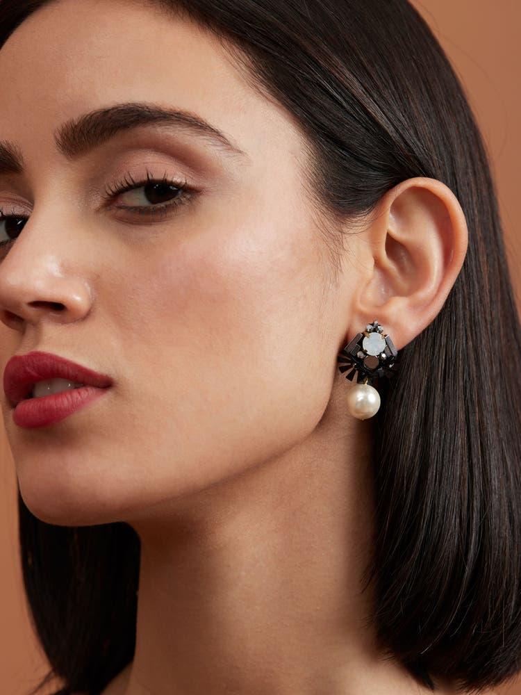 Black Starburst Earrings