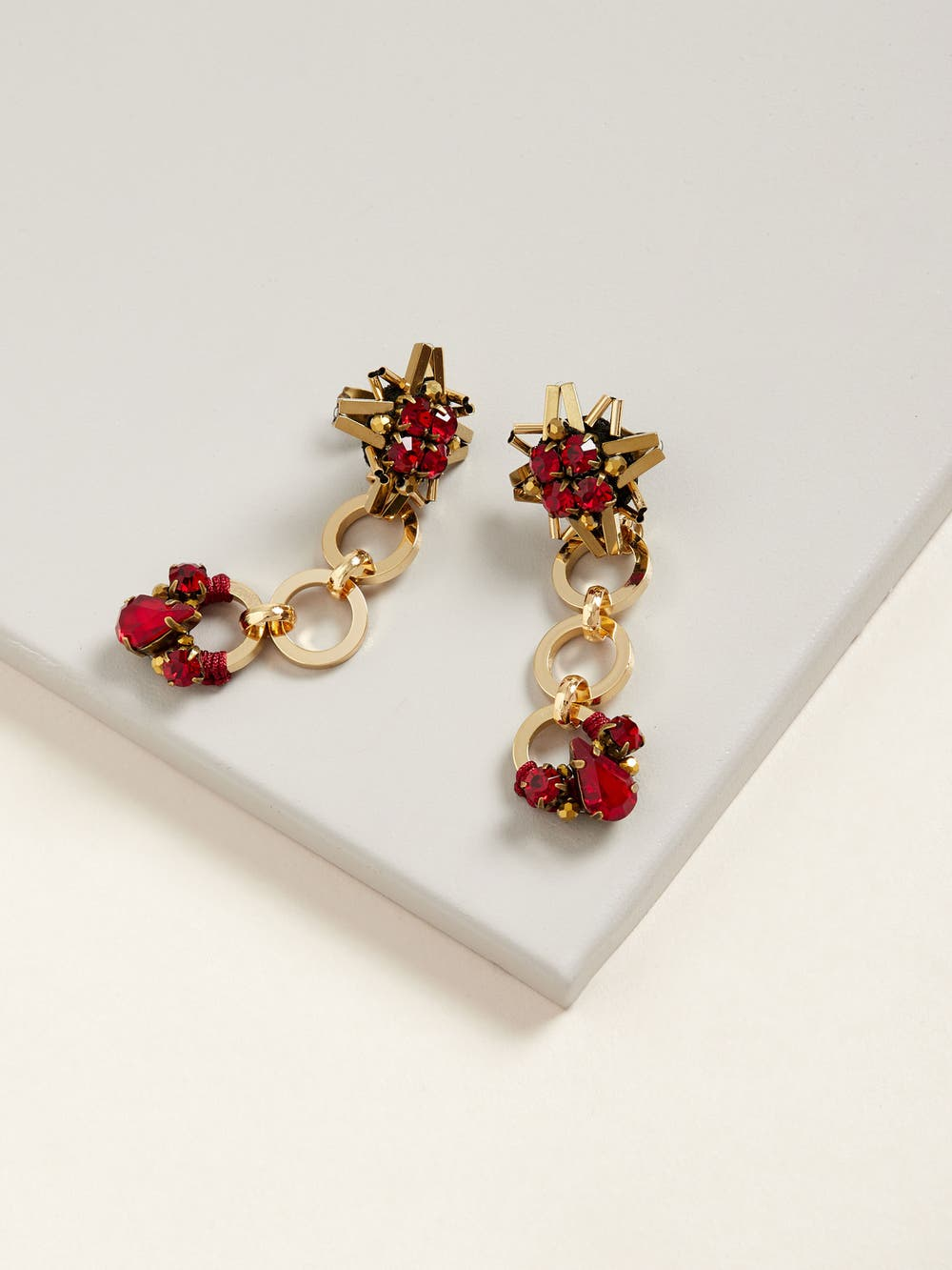 Red Starry Earrings