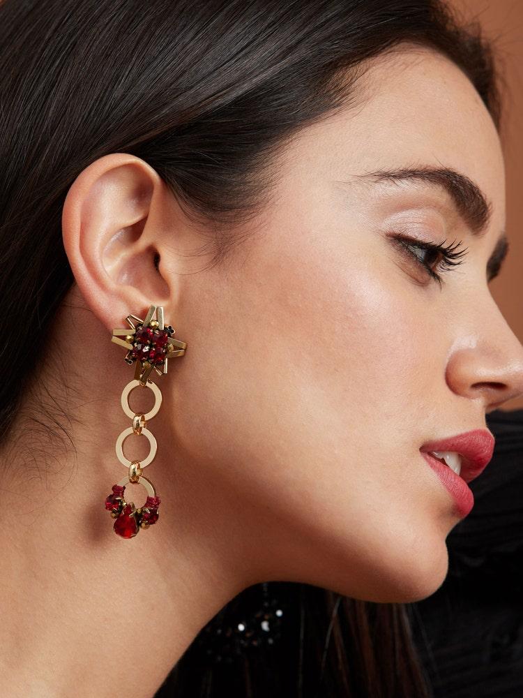 Red Starry Earrings