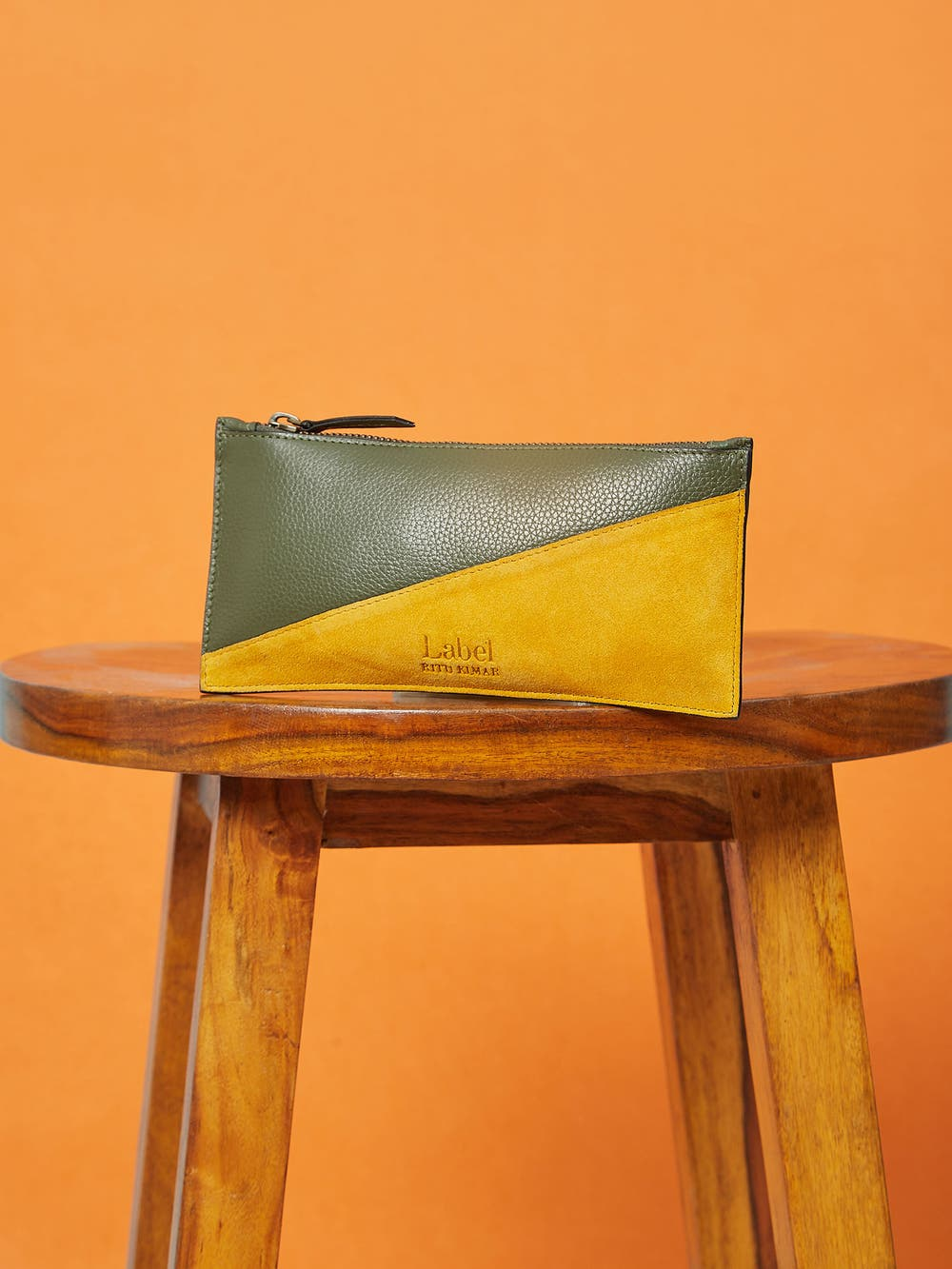 Olive Green Leather Pouch