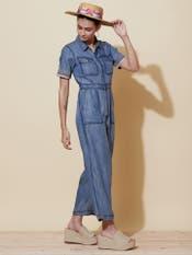 Denim Blue Shirt Jumpsuit