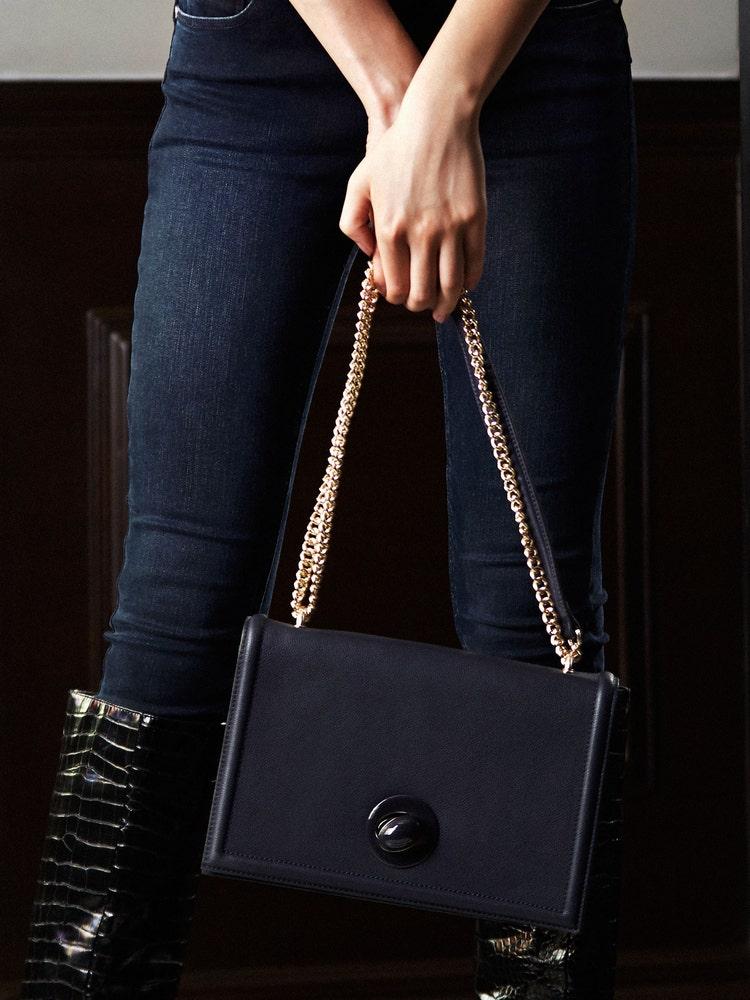 Navy Blue Shoulder Bag