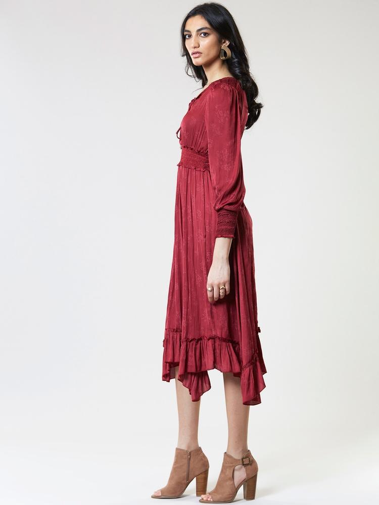 Berry Red Midi Dress