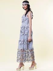 Grey Lace Maxi Dress
