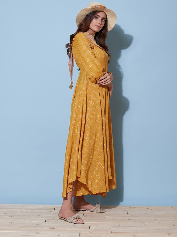 Brown Lurex Dress