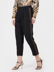 Black Pleated Trousers