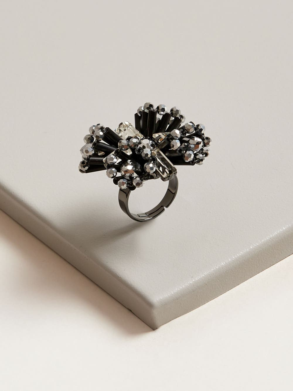 Hematite Breeze Ring