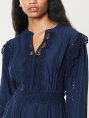 Navy Blue Solid Short Dress
