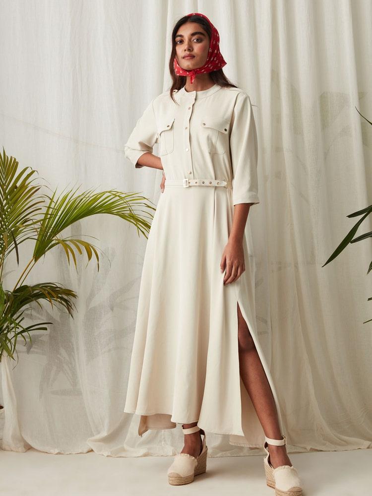 Ivory Versatile Shirt Dress