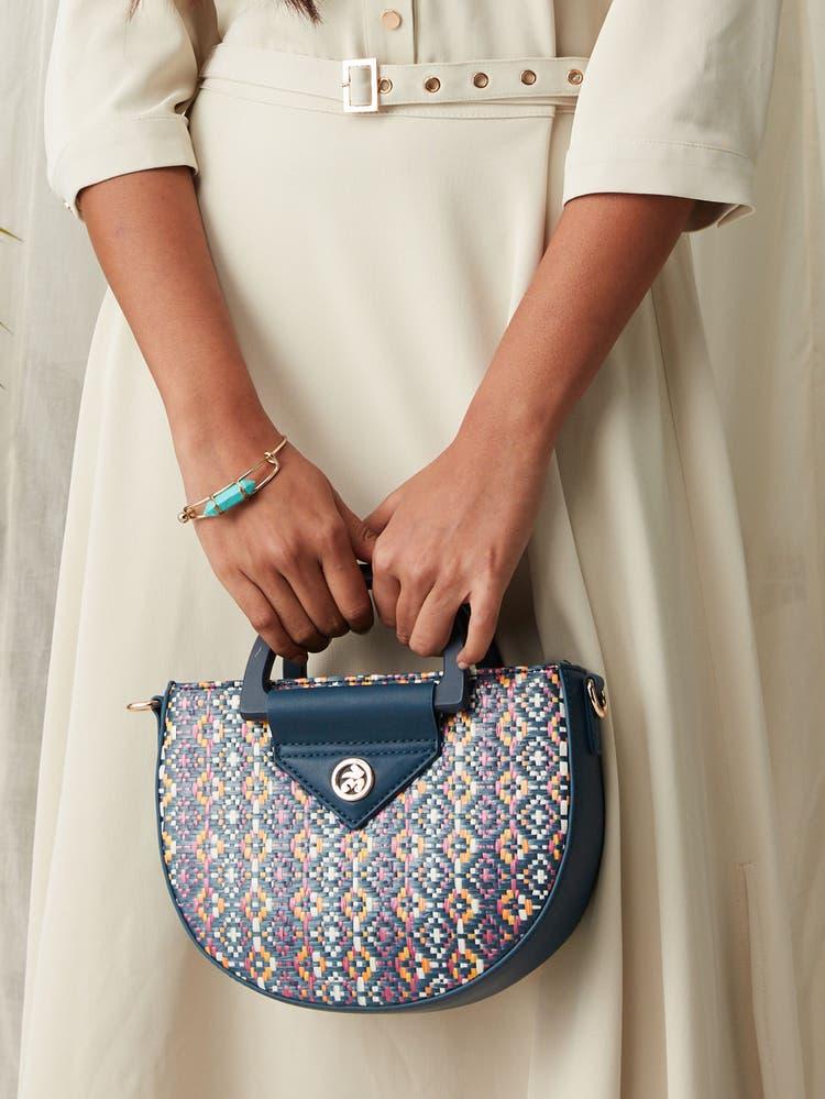Navy Blue Sling Bag