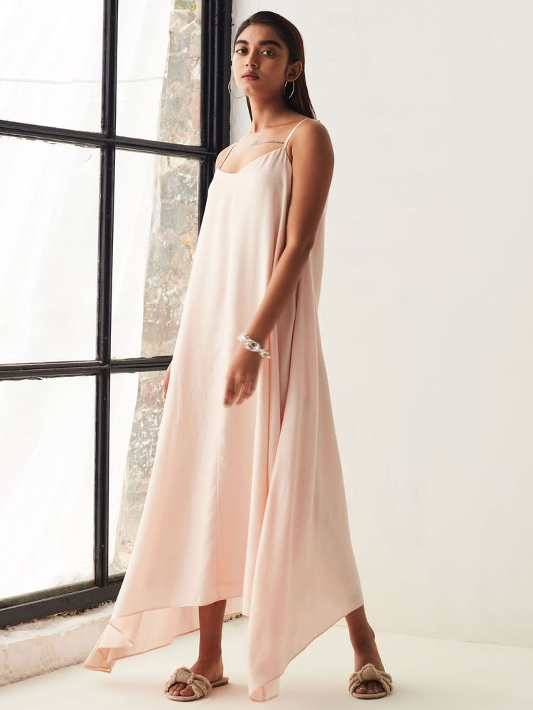 Pink Summer Time Long Dress
