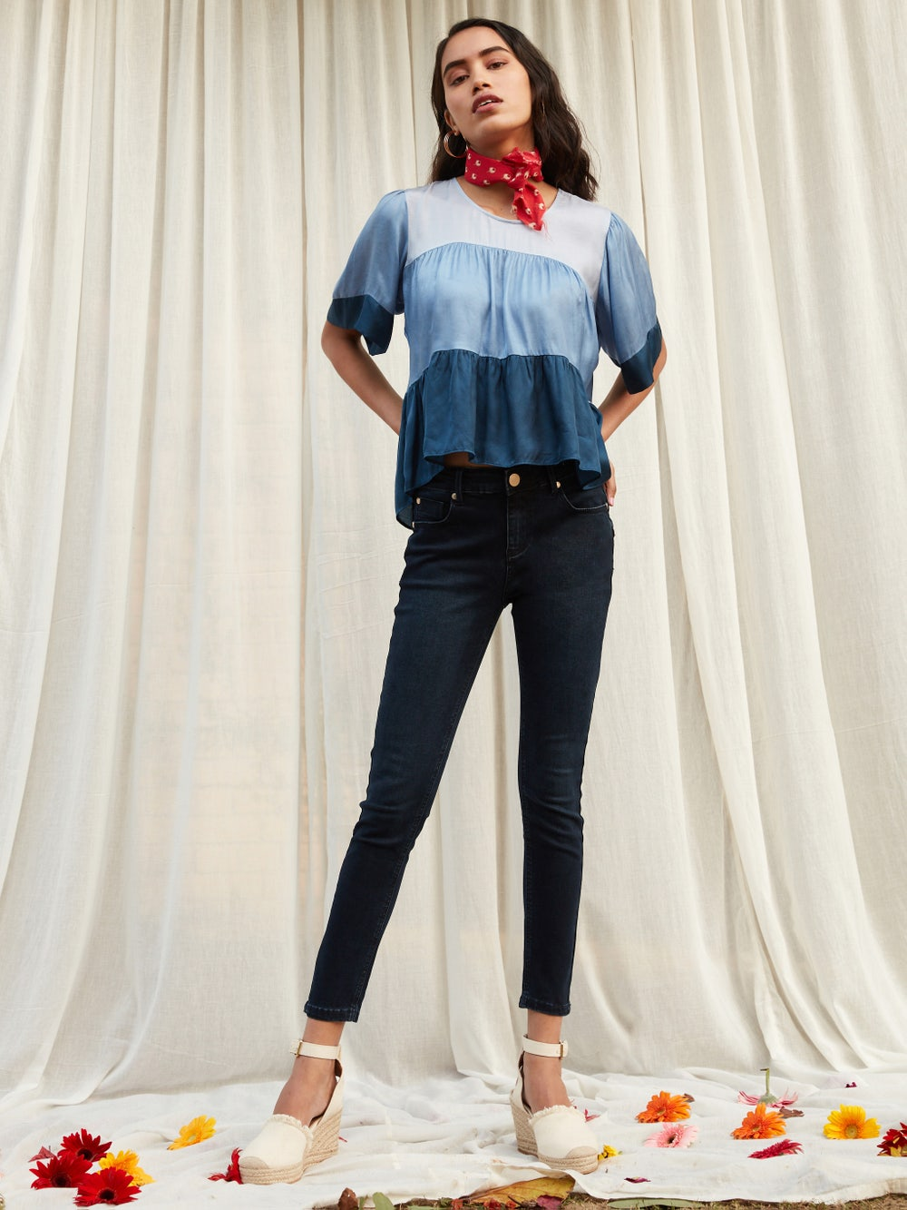 Deep Blue Skinny Jeans