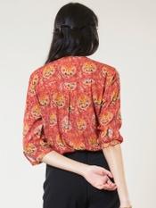 Red Printed Shirt