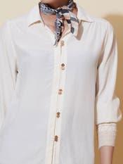 White Smocked Shirt