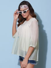Off White Ombre Top