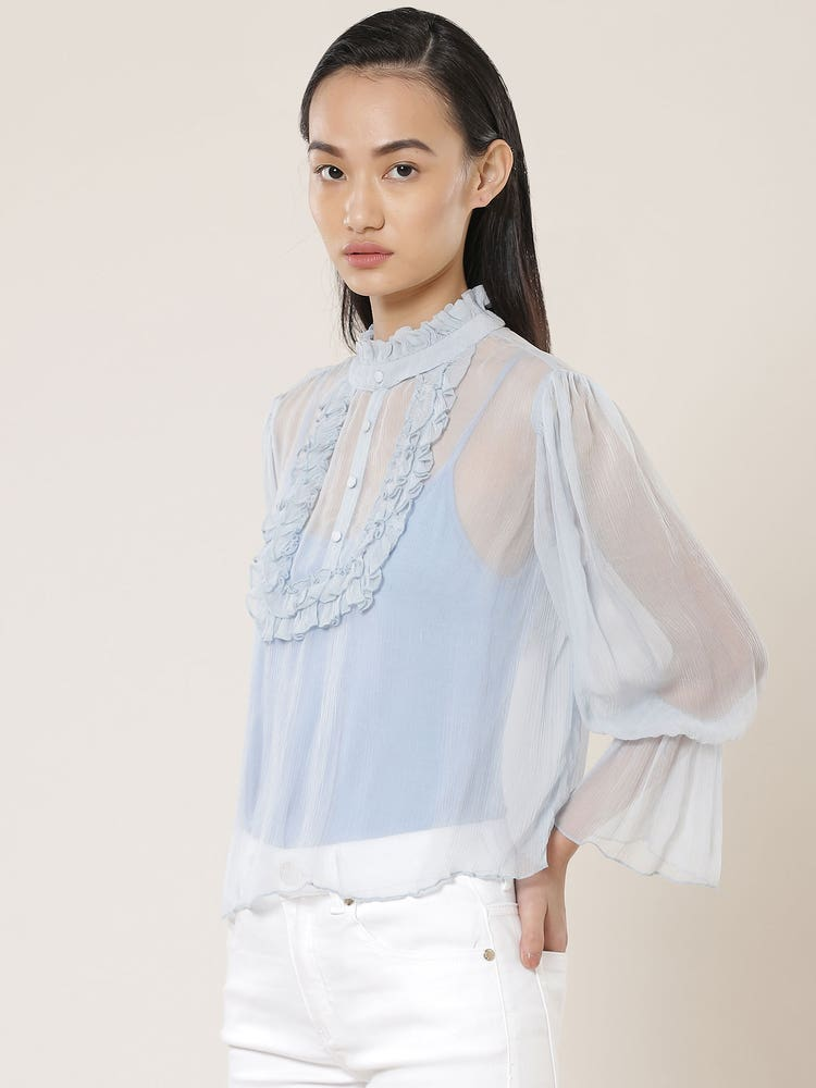 Powder Blue Wispy Top