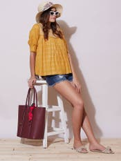 Brown Lurex Top