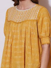 Yellow Lurex Top