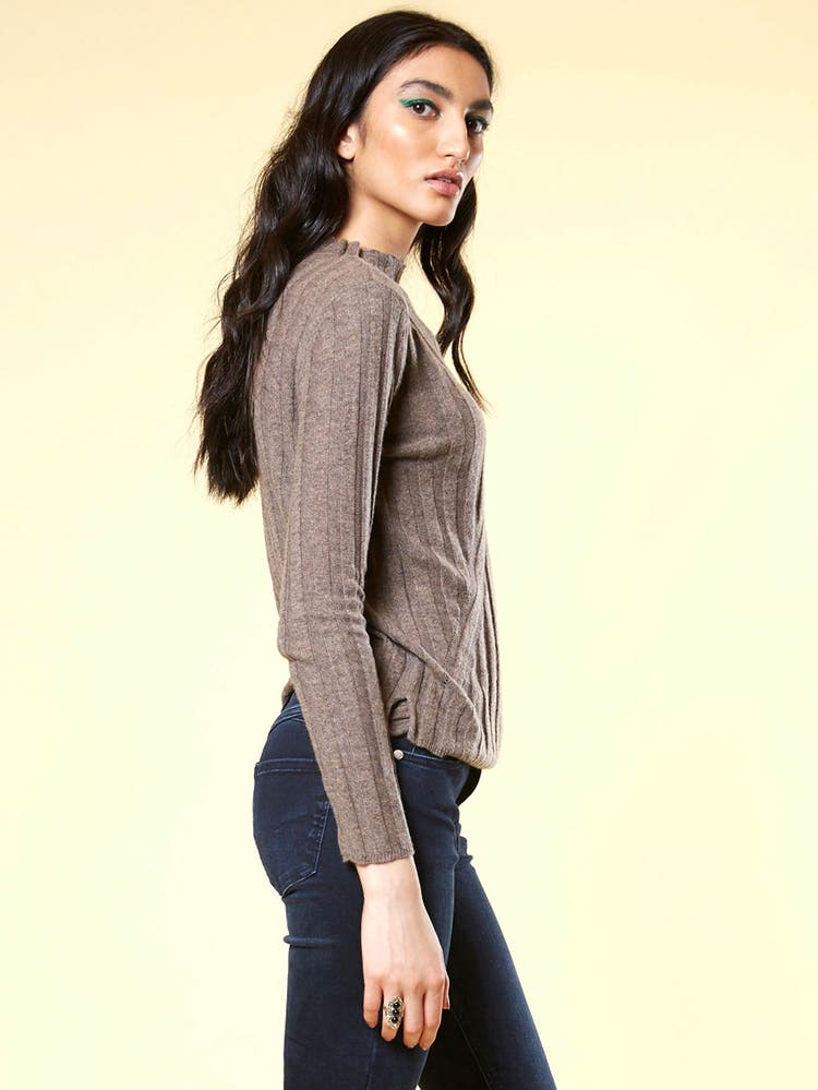 Brown Texture Pullover