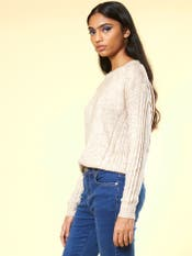 Beige Texture Pullover