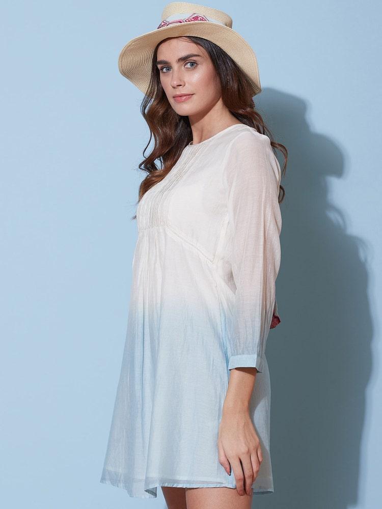 White Ombre Short Dress
